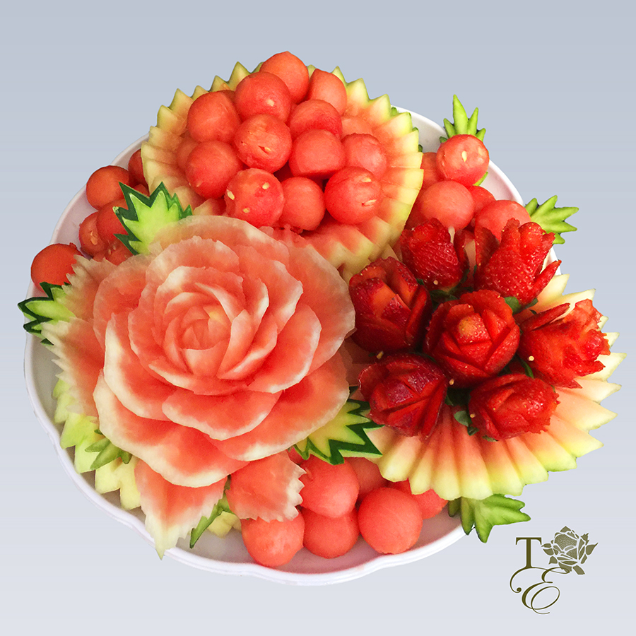 fruit vegetable carving decoration birthday special occassion